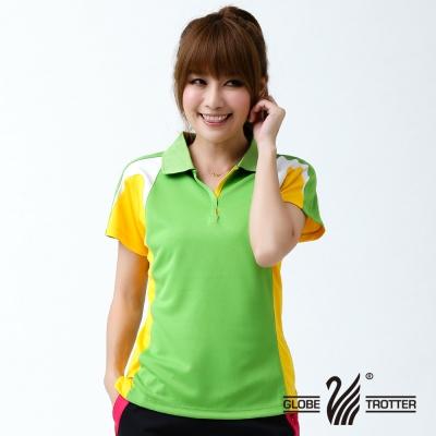 【遊遍天下】女款抗UV吸濕排汗機能POLO衫NS010綠