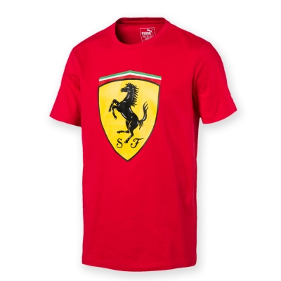 PUMA-男性法拉利車迷系列大盾牌短袖T恤-法拉利紅-歐規