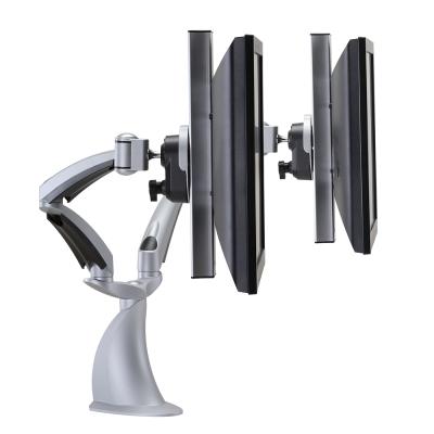 HOOLIN 普瑭電腦液晶顯示器 人因工學螢幕雙臂式支稱架 LA7CQW