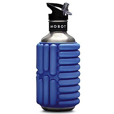 MOBOT 40oz 按摩滾輪水壺 - 1200cc 藍色