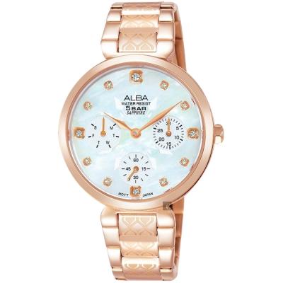 ALBA雅柏  Fashion 幾何圖騰晶鑽女錶(AP6554X1)-33mm