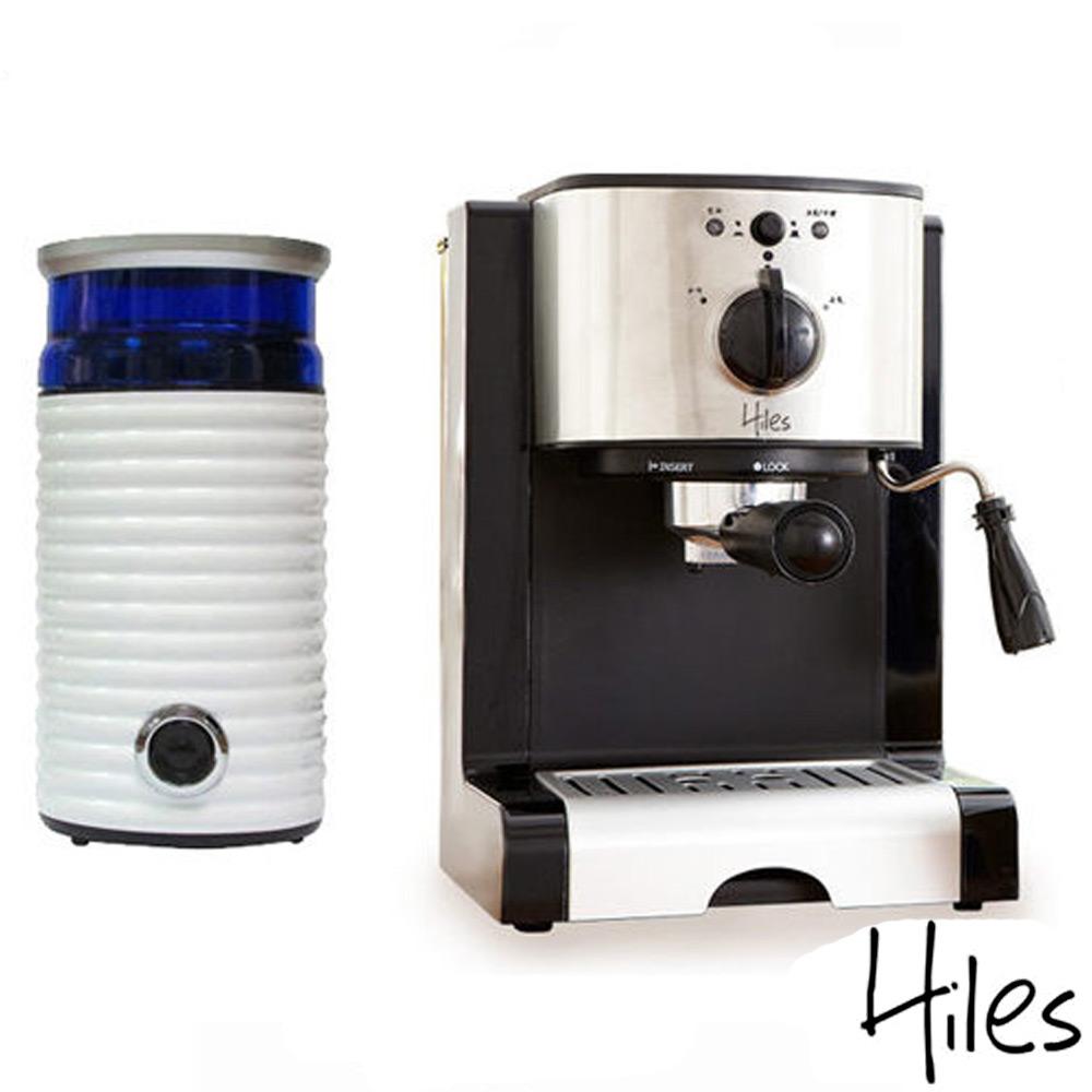 Hiles經典午茶組合:義式咖啡機+電動磨豆機(HE-310+HE-386W2)