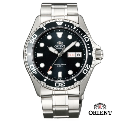 ORIENT 東方錶 WATER RESISTANT 200米潛水機械錶-藍/41.5mm