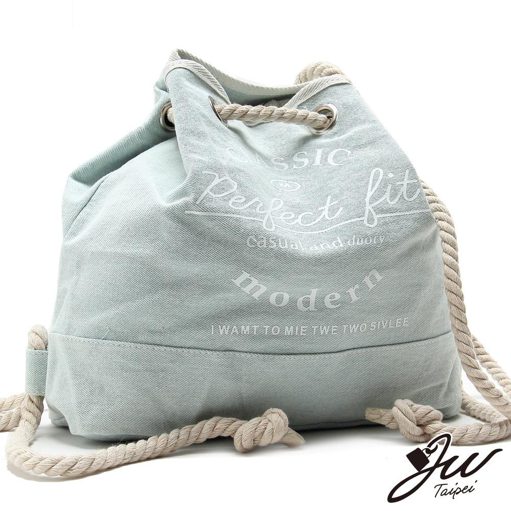JW 海洋之星水手帆布後背包 灰白色(快)