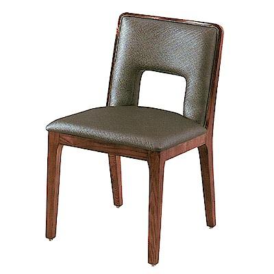 AS-阿爾娃灰色皮面餐椅-46x47x81cm