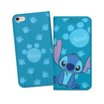 迪士尼授權正版 iPhone 6S Plus 5.5吋  印花系列彩繪皮套(史迪奇)