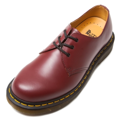 Dr.Martens-經典3孔馬汀鞋-男款-櫻桃紅