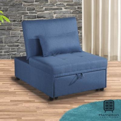 漢妮Hampton莫里斯布面單人沙發床-天藍-沙發床/躺椅/貴妃椅