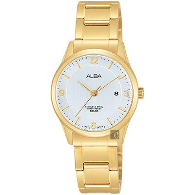 ALBA 時尚東京限定石英女錶(AH7L70X1)-銀x金/28mm
