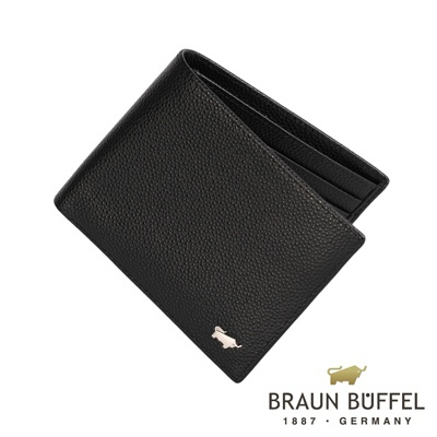 BRAUN BUFFEL - HOMME-B紳士系列8卡皮夾 - 黑色