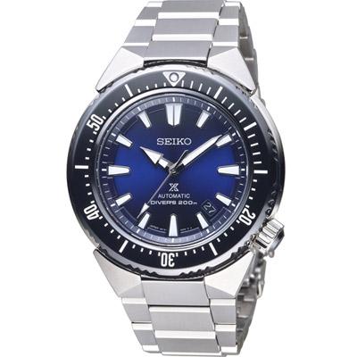 SEIKO 精工PROSPEX  200米專業潛水機械錶(SBDC047J)藍/45mm