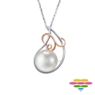 彩糖鑽工坊 簡愛系列 11-12mm 淡水珍珠項鍊