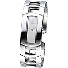 cK Dress 仕女系列紐約風S手圍環錶-銀色鏡面/20mm