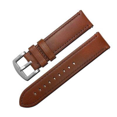 LICORNE 力抗 各種品牌通用復刻真皮錶帶-咖啡色/22mm