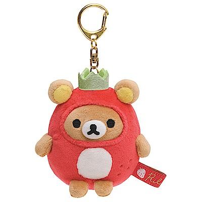 拉拉熊草苺派對系列QQ公仔吊飾。懶熊San-X
