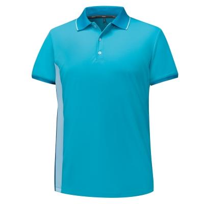 【ATUNAS 歐都納】男款涼感防曬吸濕排汗快乾短袖POLO衫A-P1702M藍綠