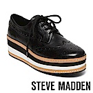 STEVE MADDEN-GRECO 綁帶厚底牛津鞋-黑色