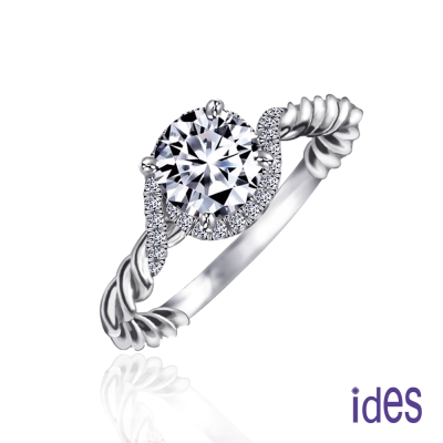 ides 愛蒂思 精選1克拉設計款E/VS2八心八箭完美車工鑽石戒指/螺璇