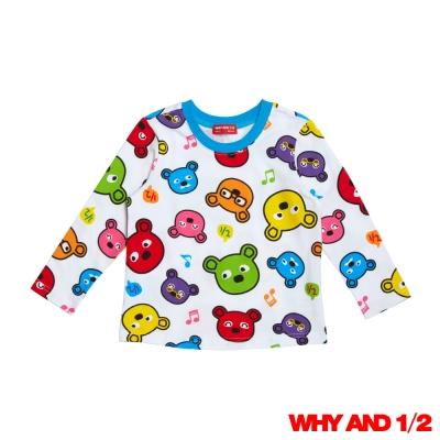 WHY AND 1/2 普普熊家居T恤 白色 2Y~10Y