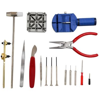 WISH DIY 鐘錶16件工具組  換電池/拆錶帶/保養/維修