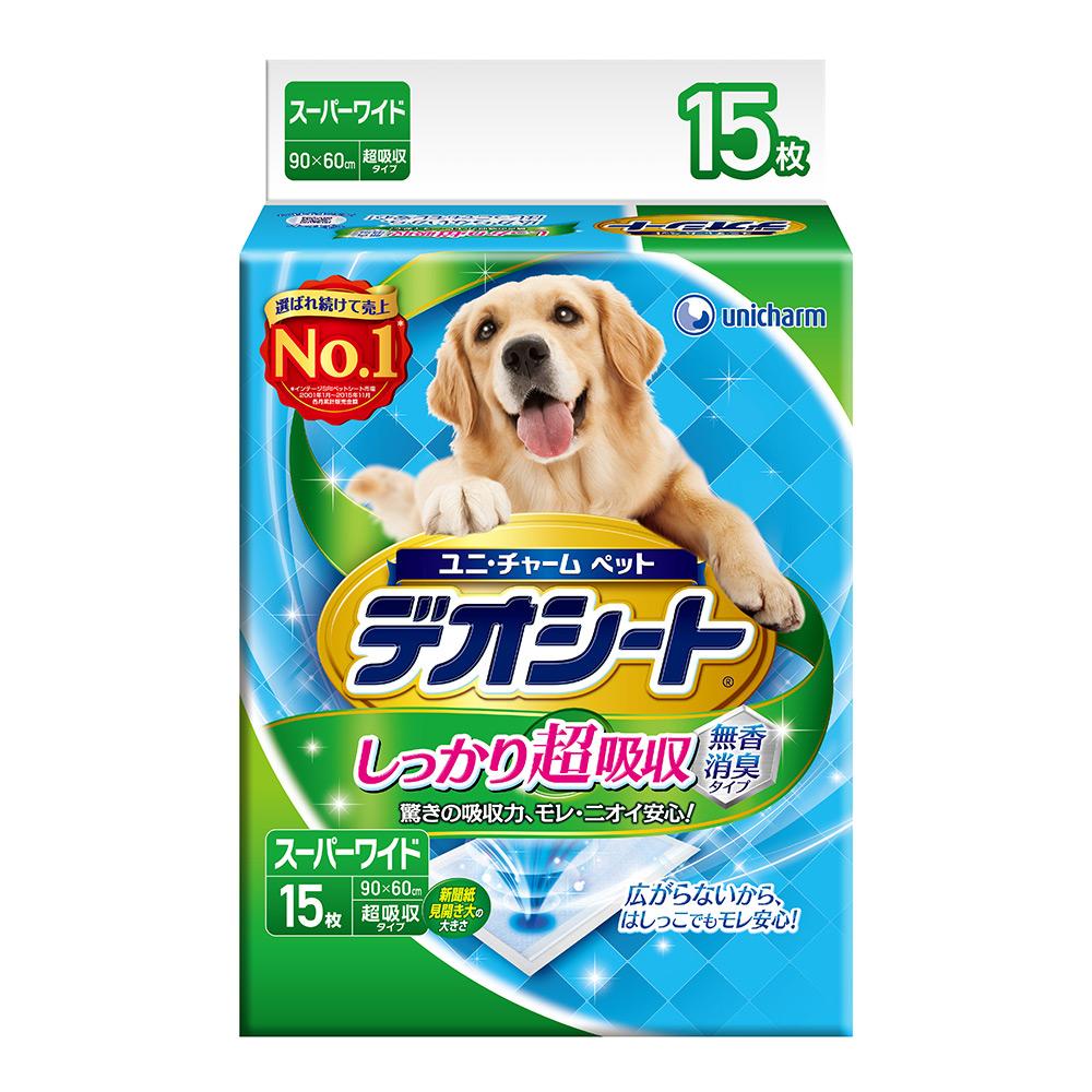 日本Unicharm消臭大師 超吸收狗尿墊(4L)(15片)