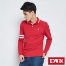 EDWIN 經典小E LOGO POLO衫-男-紅色