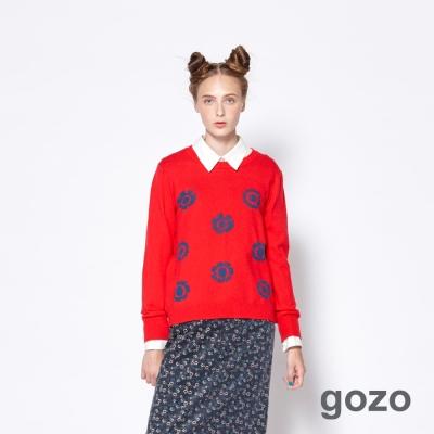 gozo 自然感波蘭花卉印花上衣 (二色)