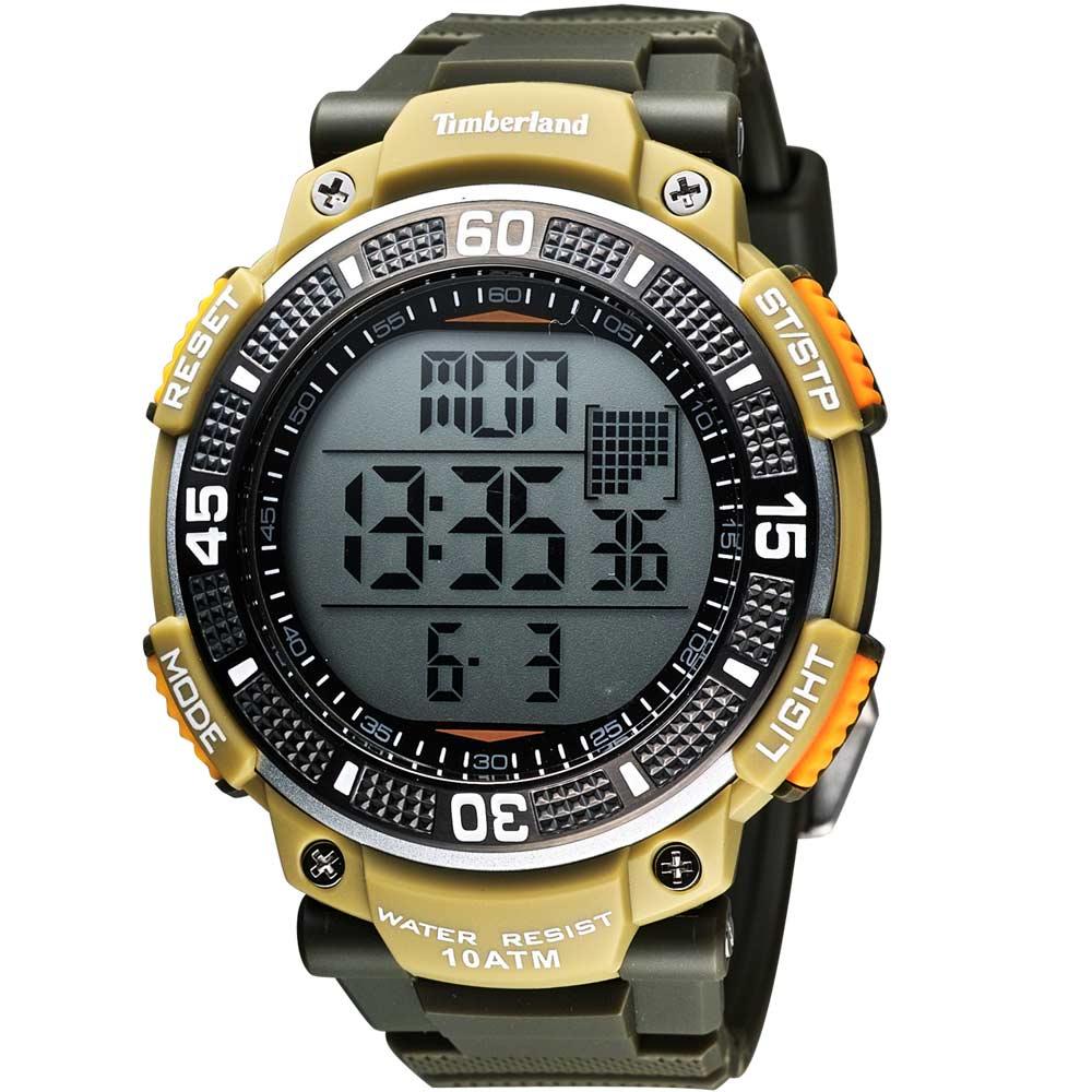 Timberland CADION系列多功能數位腕錶-橄欖綠50mm