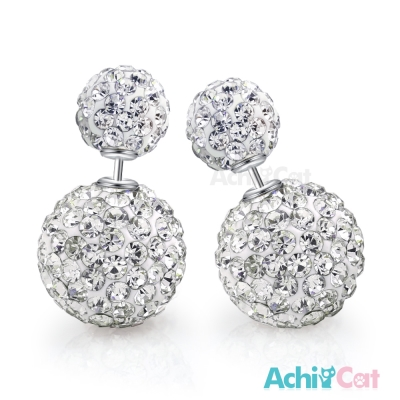 AchiCat 925純銀耳環 幸福圓滿