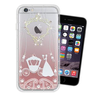 WT iPhone6s / 6 Plus 5.5吋 奧地利水晶彩繪空壓手機殼(精...