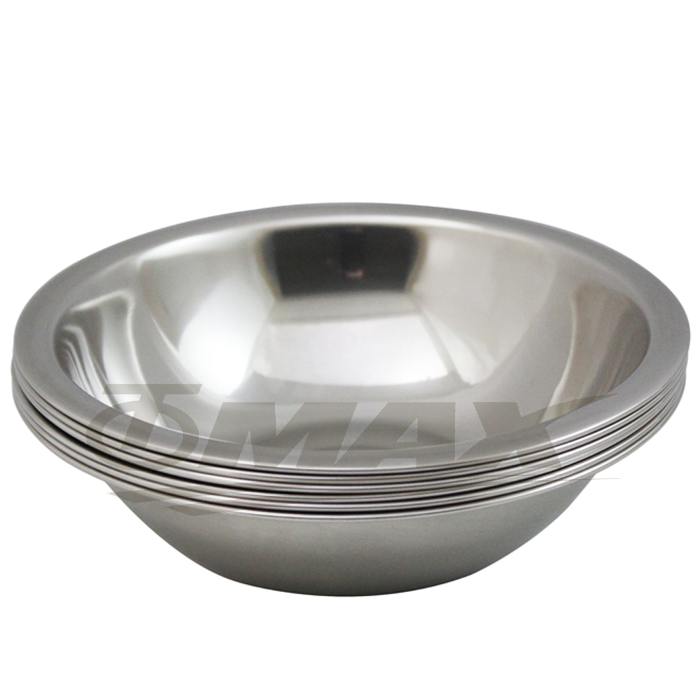omax高級不鏽鋼湯碗(16cm-小) 6入+保溫保冷袋1入(隨機出貨)