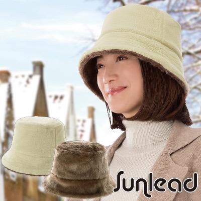 Sunlead 雙面雙色可戴。Fleece保暖防寒刷毛軟帽 (暖棕/淺褐)