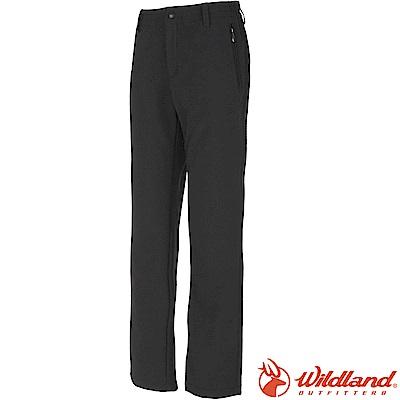 Wildland荒野W2309-54黑色 女 SOFTSHELL保暖長褲