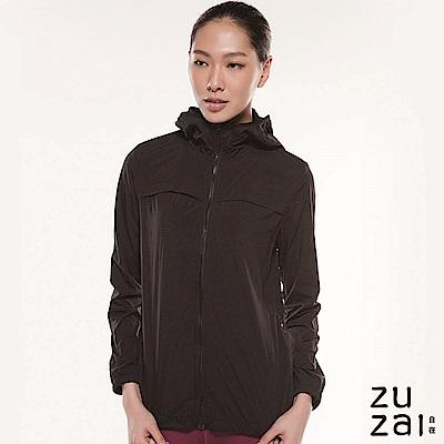 zuzai 自在親膚透氣防潑水風衣-女-黑色