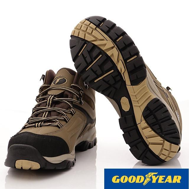 GOODYEAR-動態防水戶外登山鞋-EI3414棕(男段)