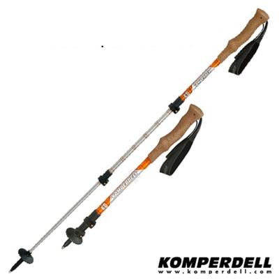 KOMPERDELL RIDGEHIKER CORK強力鎖定軟木登山杖(雙支)_橘