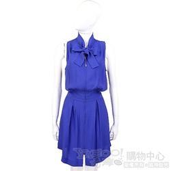 SEE BY CHLOE 寶藍色領結飾拉鍊設計洋裝