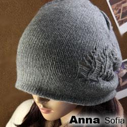AnnaSofia 雙側線鏤厚實 雙面針織帽(湮灰)