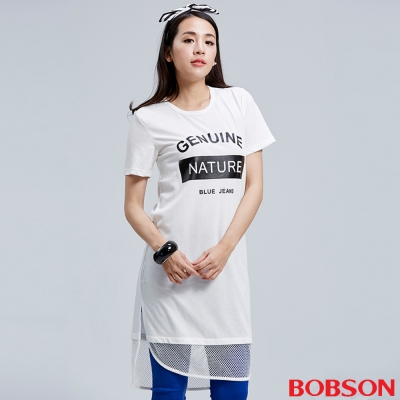 BOBSON 女款網布長版衣