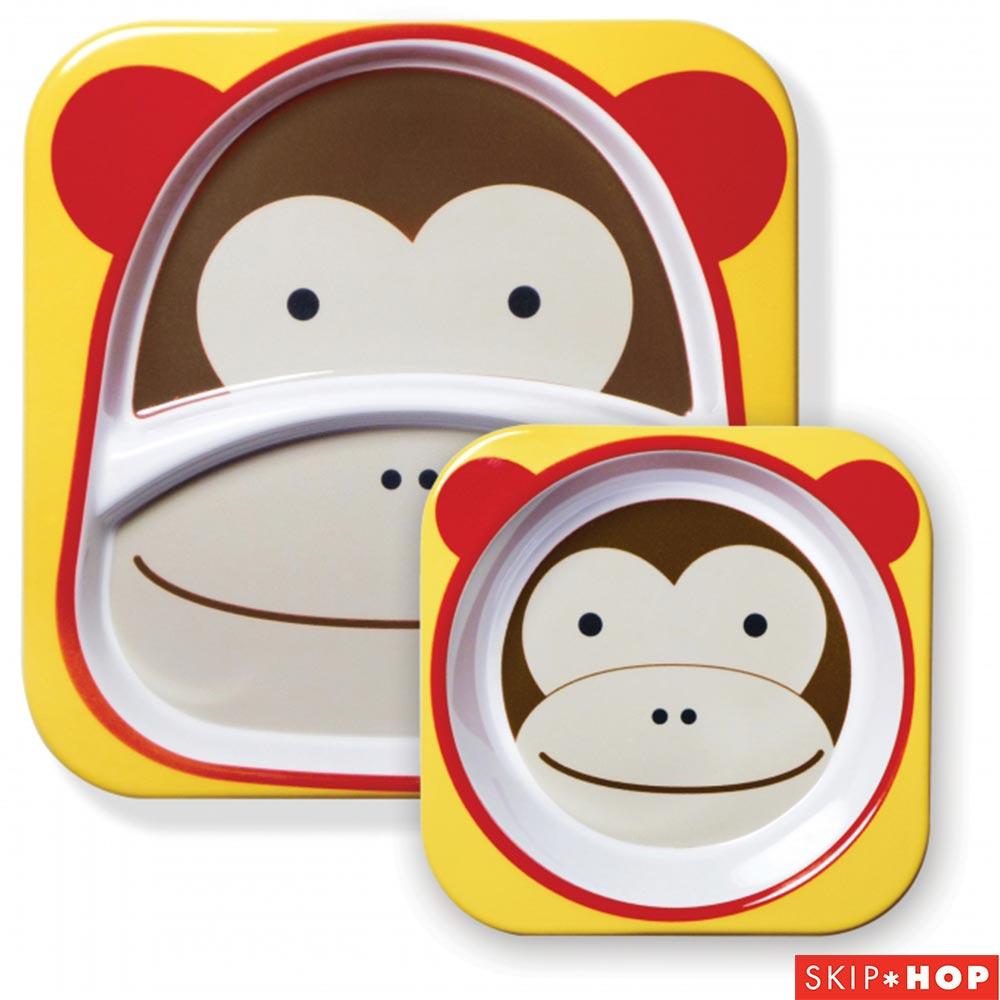 Skip Hop 小猴子款動物兒童餐具組合