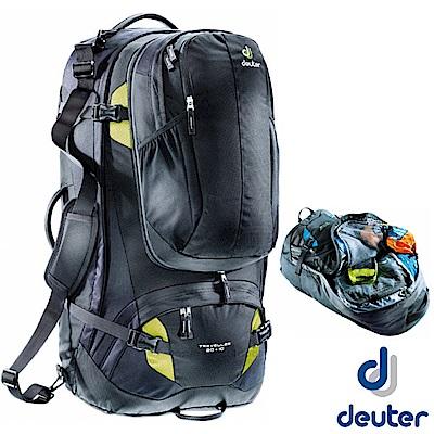 【德國 Deuter】Traveller 80+10L 自助旅行登山休閒背包_黑