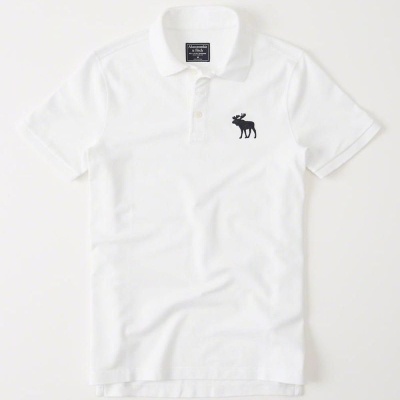 AF a&f Abercrombie & Fitch POLO 白色 0343