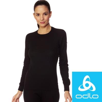 瑞士【Odlo】152021 女銀離子圓領保暖衛生衣(黑)