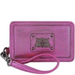 JUICY COUTURE 粉紅色皮革壓紋手拿包