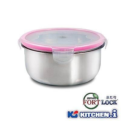 韓國FortLock 圓型不鏽鋼保鮮盒2100ml KFL-R6-1