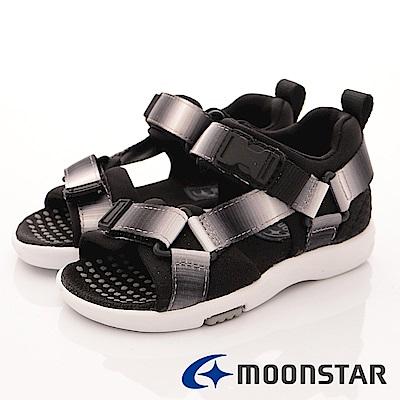 日本月星頂級童鞋 Hi系列機能涼鞋 TW1941白黑(中小童段)
