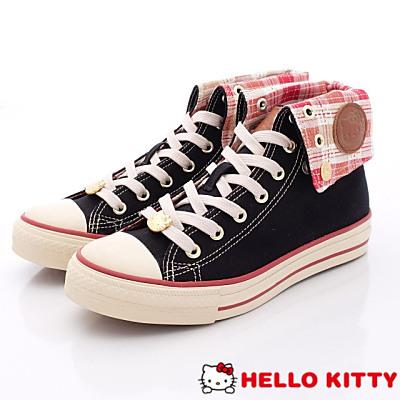 Hello Kitty-凱蒂勛章休閒款-NI13045黑(女段)