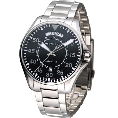 Hamilton Khaki Pilot 航空軍用飛行機械錶-黑/42mm
