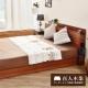 日本直人木業傢俱~5尺胡桃色雙人床架~簡約收