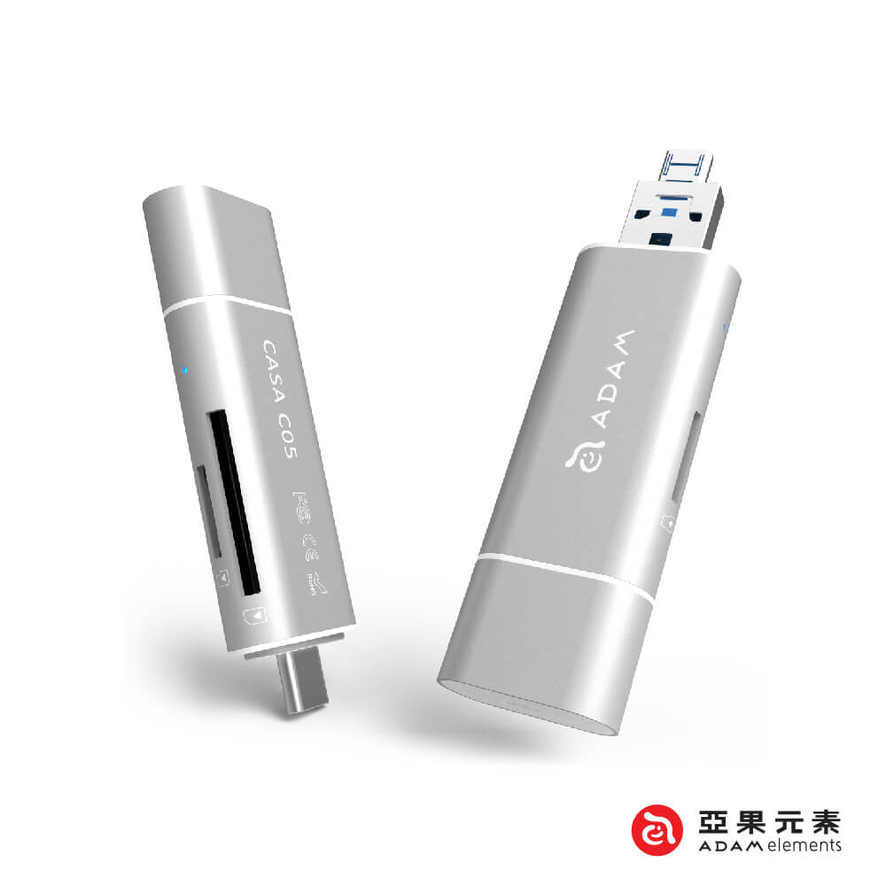 亞果元素 CASA C05 4K 5合一多功能OTG隨身讀卡機 product image 1